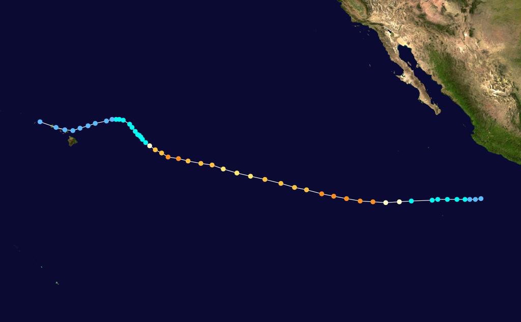 Hurricane Raymond track 1983