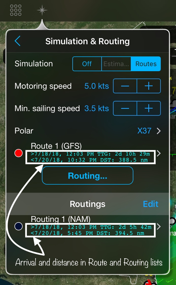 Arrival and Distance in Routing